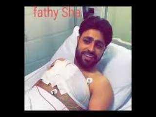 """"""" صلاح الاخفش """" على سرير المرض عقبَ تعرضه لمحاولة اغتيال في ليالي الجحملية"""