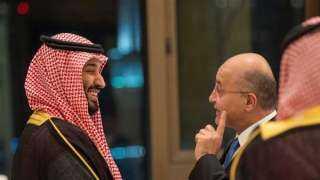 ولي العهد وصالح يبحثان العلاقات بين الرياض وبغداد