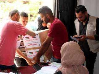 الإمارات ترسل 960 طنا من المساعدات إلى قطاع غزة