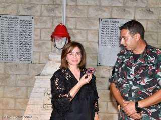"""إلهام شاهين من بيروت: """"أول مرة أشوف لبنان كده!"""""""