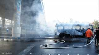 13 قتيلا و3 جرحى بتفجير مزدوج استهدف حافلة عسكرية في دمشق